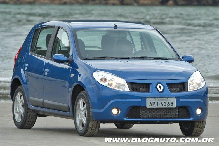 Renault Sandero 2008, o primeiro: evolução nítida