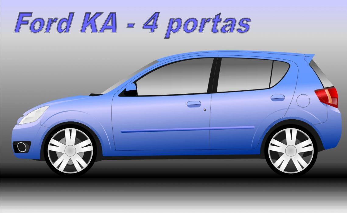 Ford Ka 5 portas (ilustração de Fábio S. dos Santos)