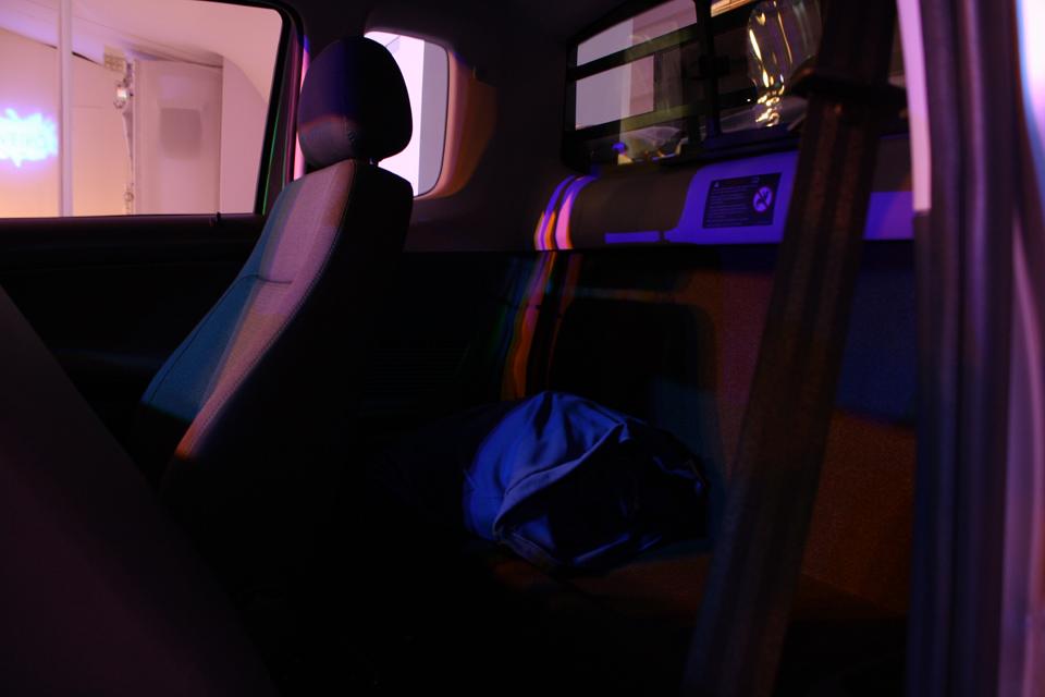 O compartimento da cabine estendida