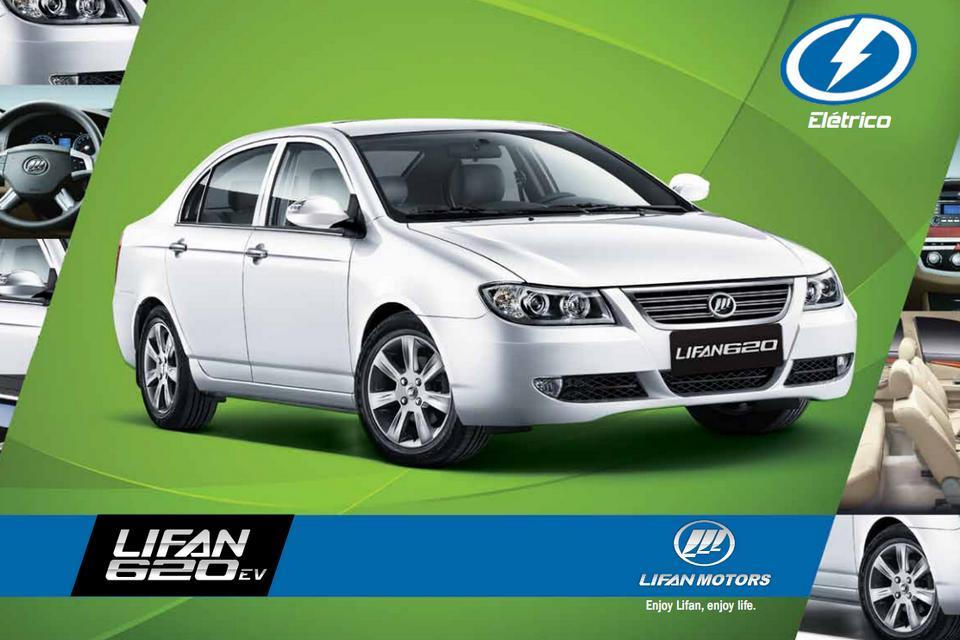 Lifan exibe folder do 620 EV em seu site brasileiro