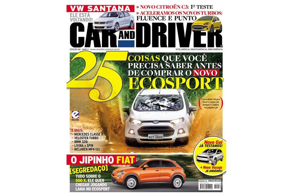 Novo EcoSport domina capas das revistas de agosto