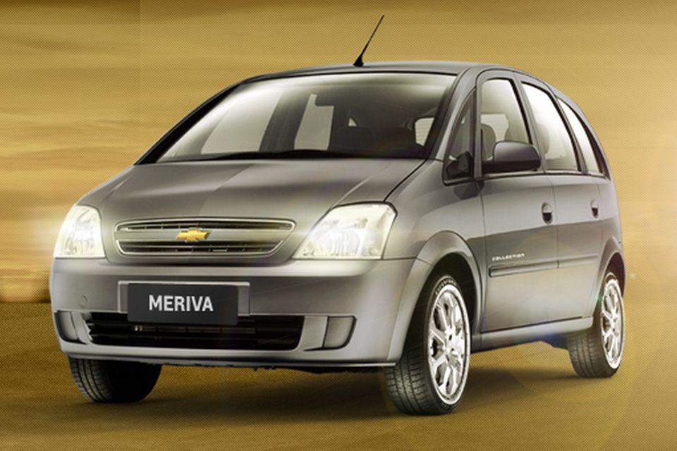 Chevrolet divulga preços da série Collection das minivans Meriva e Zafira