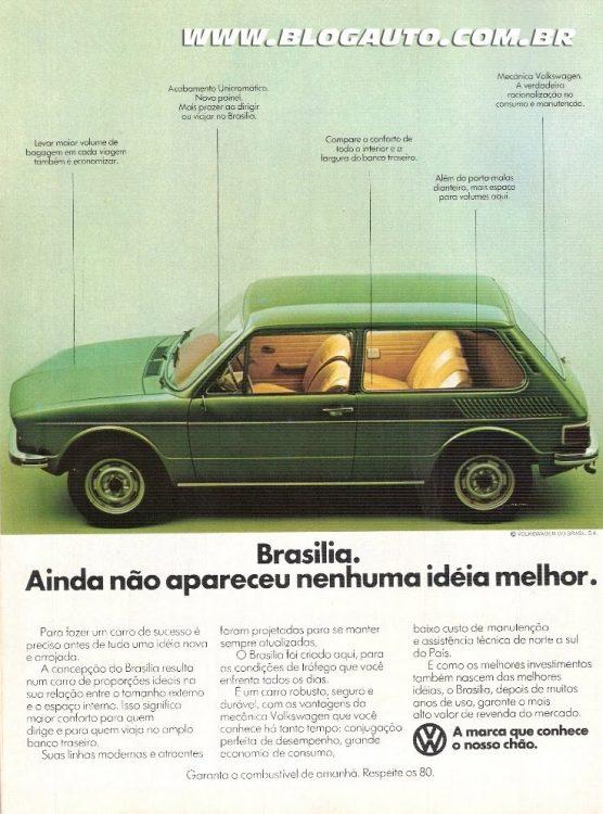 Propaganda antiga: Volkswagen Brasilia 1977