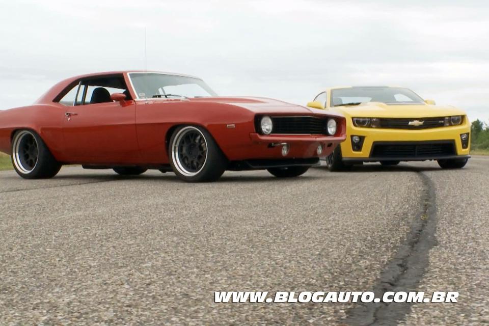 Quem é mais rápido um Camaro 2012 ou um modelo 1969 preparado