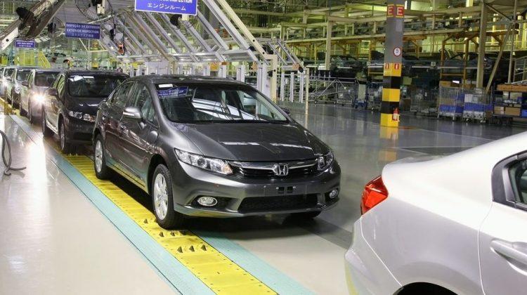 Linha de produção da fábrica da Honda