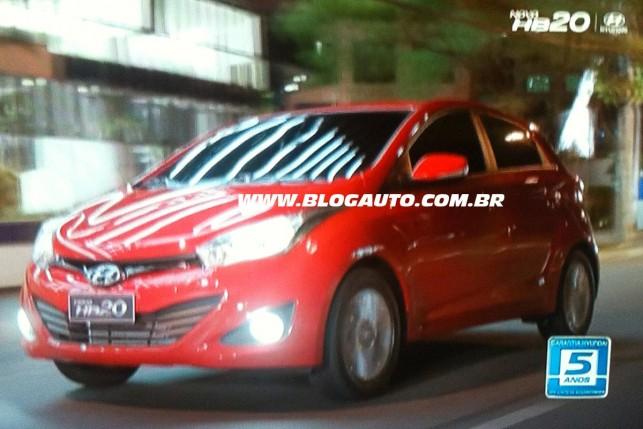 Hyundai HB20 aparece na TV
