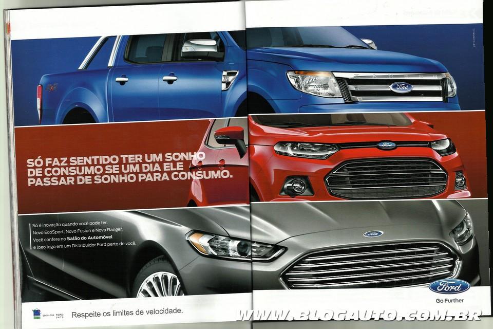 Anúncio da Ford exibindo o novo Fusion