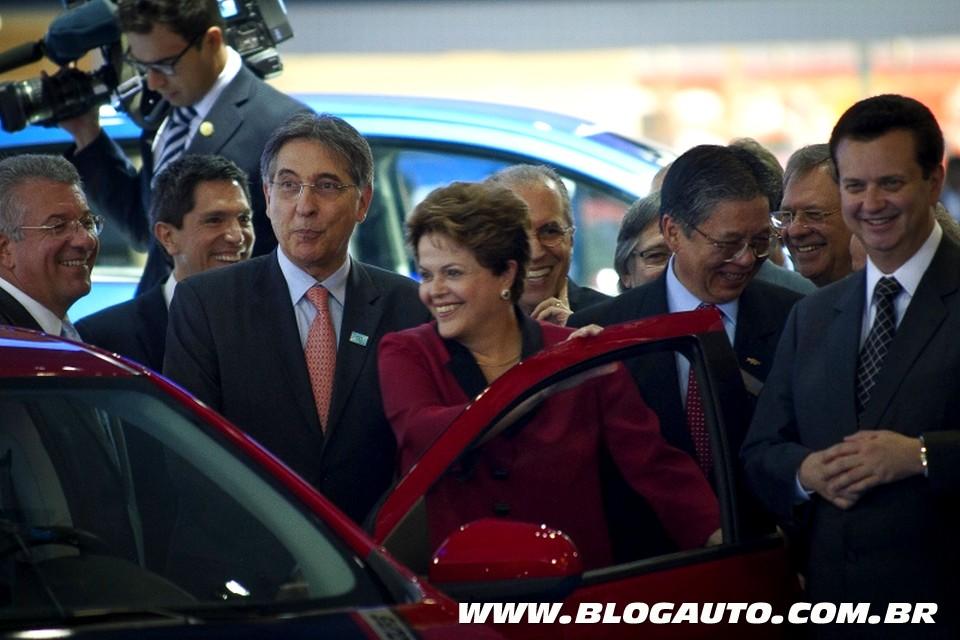 Dilma visitando o Salão