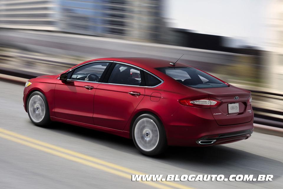 Novo Ford Fusion 2.5 flex 2014 chega ao Brasil em março