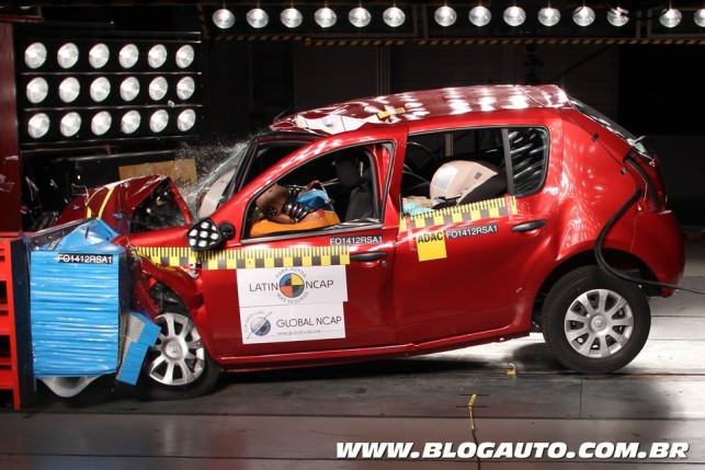 Renault Sandero no Latin NCAP