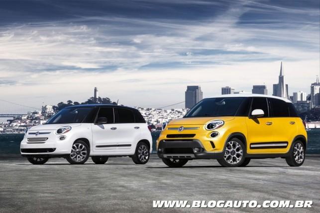 Fiat 500L norte-americano e Trekking