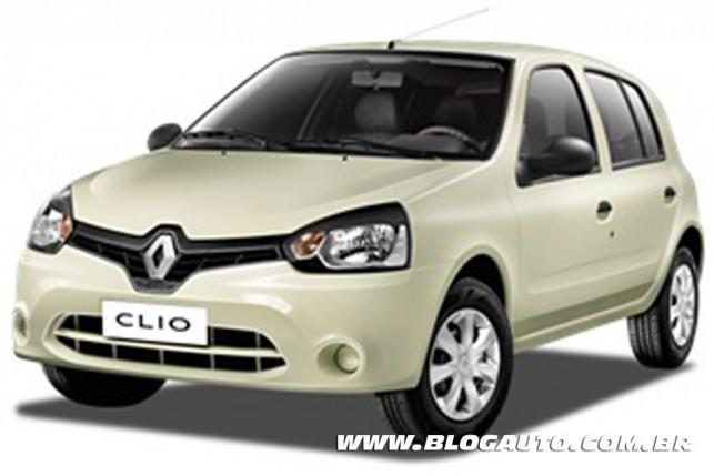 Renault Clio 2013 Branco Creme Sólida