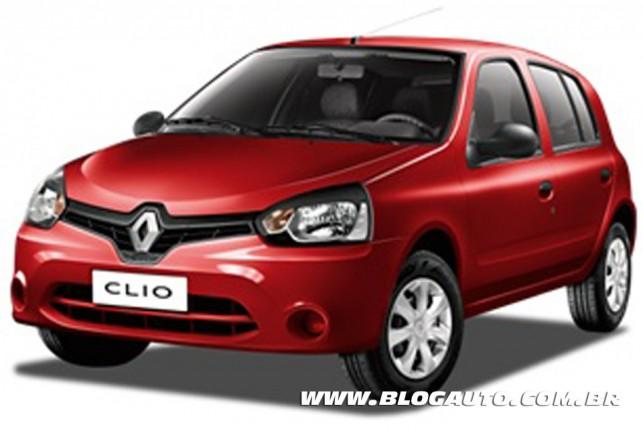 Renault Clio 2013 Vermelho Fogo Metálica