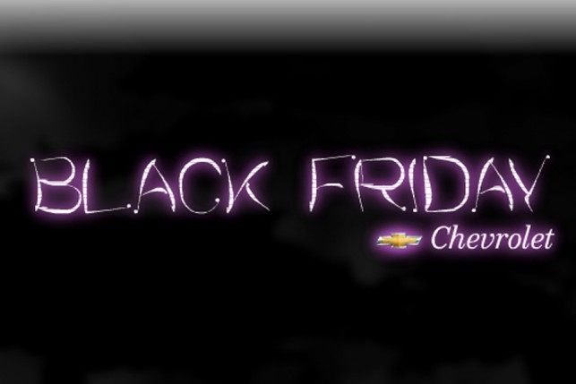 Black Friday da Chevrolet