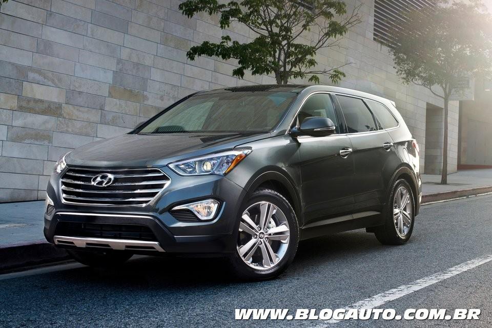 Hyundai Santa Fe com sete lugares substitui o Vera Cruz