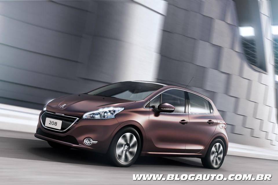 Conheça todas as cores do Peugeot 208 2014