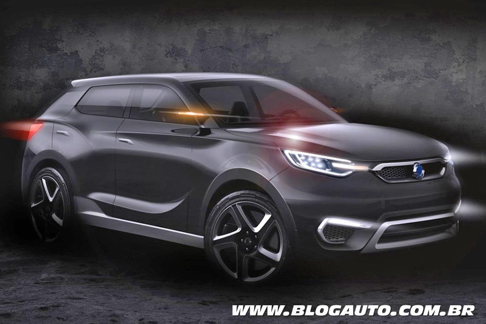SsangYong SIV-1, novo SUV, será mostrado em Genebra