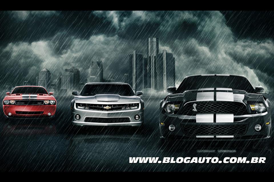 Infográfico: Camaro x Challenger x Mustang
