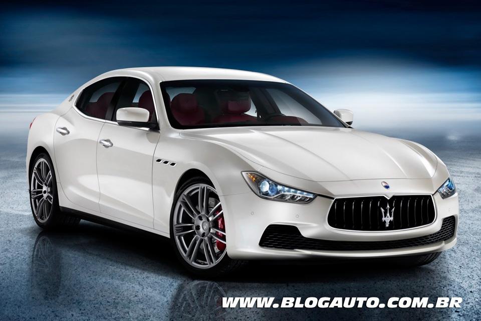 Tabela de preços dos veículos da Maserati