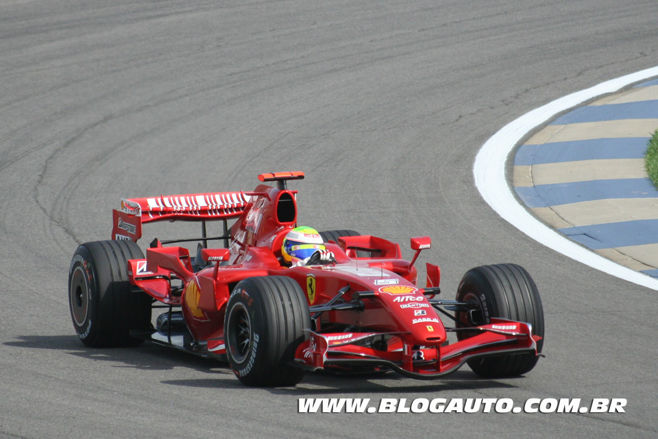 F2007 de Felipe Massa que estará no Ferrari Racing Days