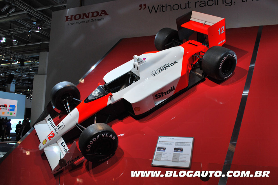 Ayrton Senna lembrado pela Honda em Frankfurt