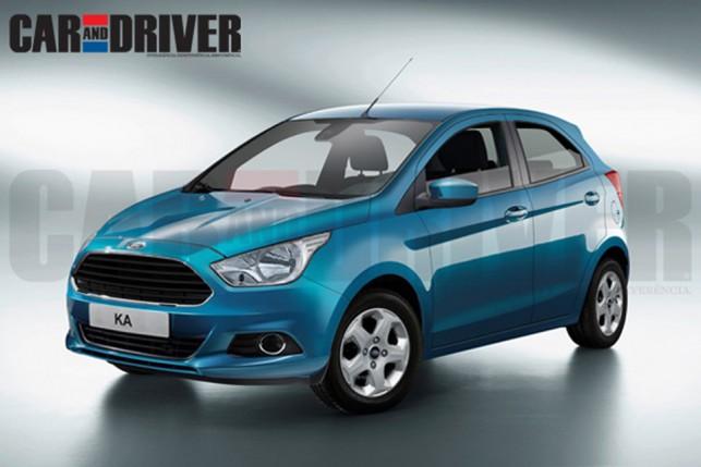 Projeção do novo hatch compacto da Ford feita pela Car & Driver (Novo Escort)