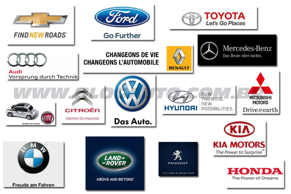Os slogans das marcas de carros