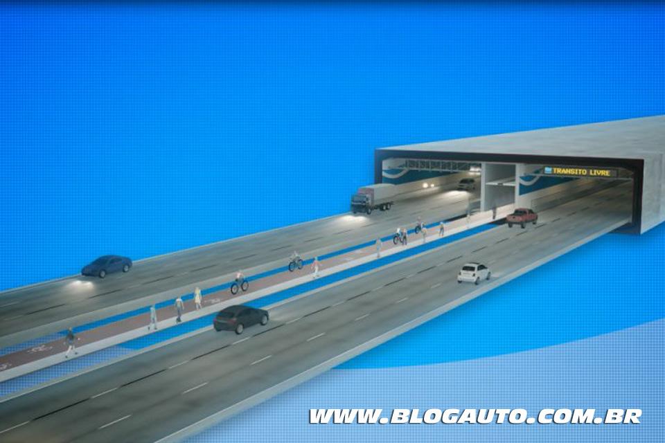 Túnel Santos Guarujá vai ligar cidades em apenas dois minutos
