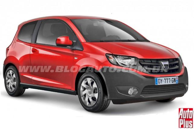 Renault de entrada, aqui a projeção com o logo da Dacia