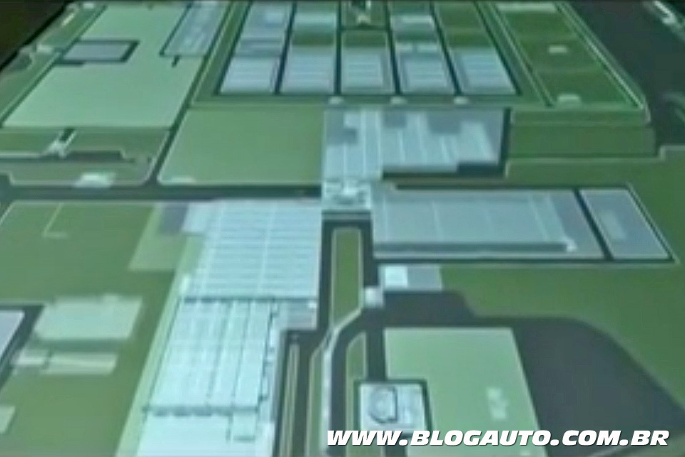 Maquete eletrônica da fábrica da Fiat em Goiana, PE