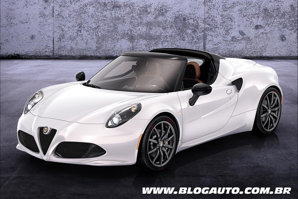 Alfa Romeo 4C Spider aparece em Genebra como conceito