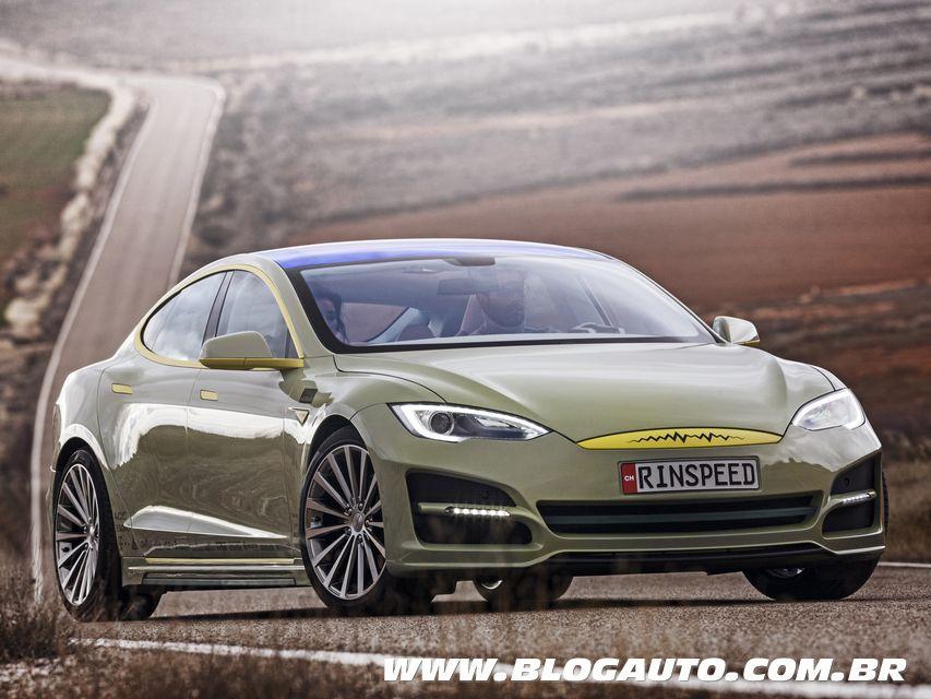 Rinspeed XchangE é um Tesla Model S que dirige sozinho