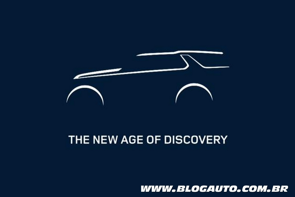 Nova geração do Land Rover Discovery tem teaser divulgado