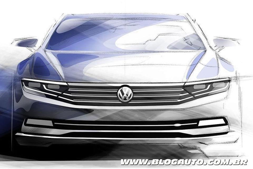Esboço do novo Volkswagen Passat