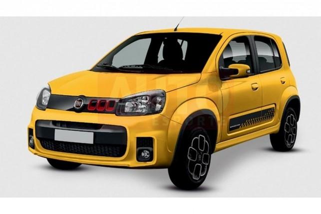 Projeção do Fiat Uno 2015 feita pela AutoEsporte