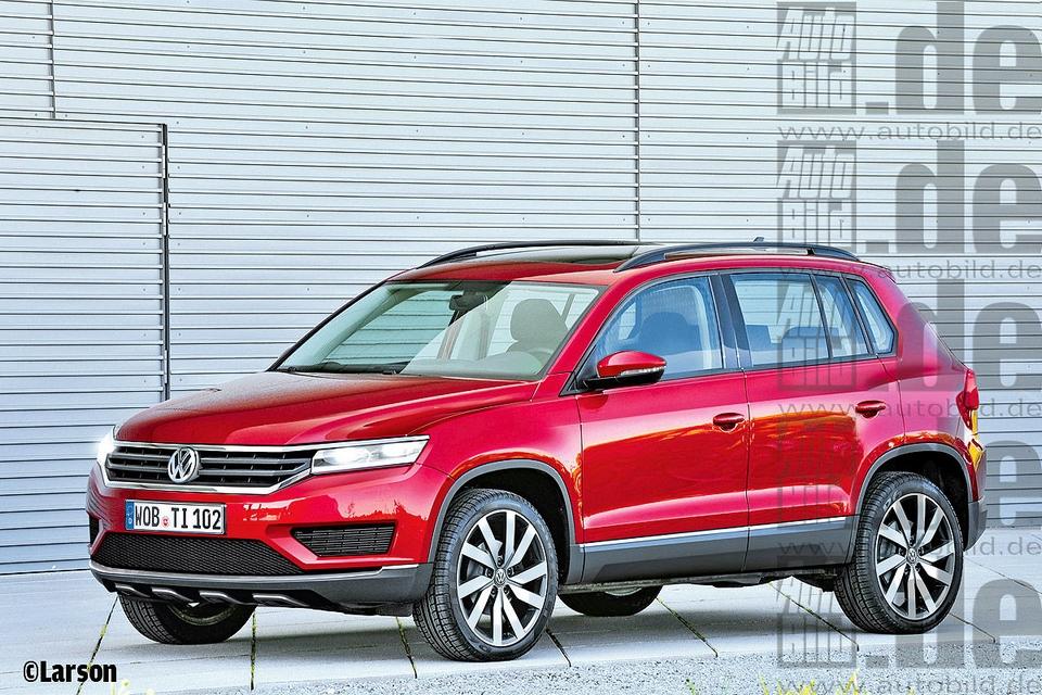 Projeção do novo Volkswagen Tiguan