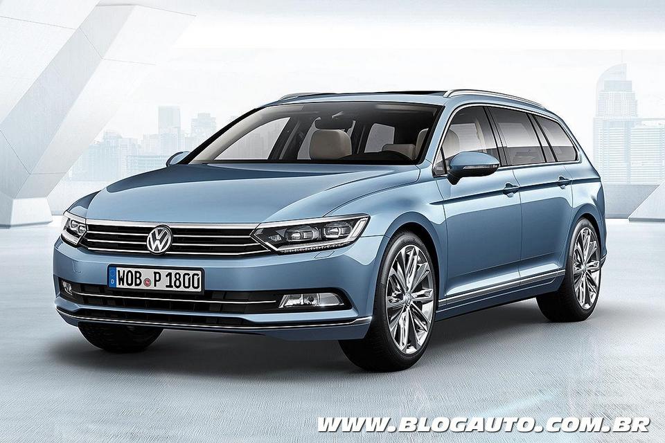 Novo Volkswagen Passat 2015 estreia visual moderno para o mundo