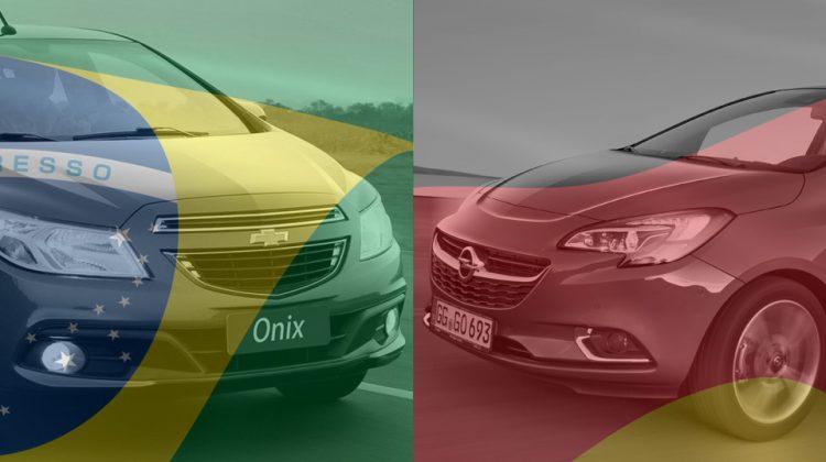 Brasileiro Onix vs alemão Corsa: goleada à vista