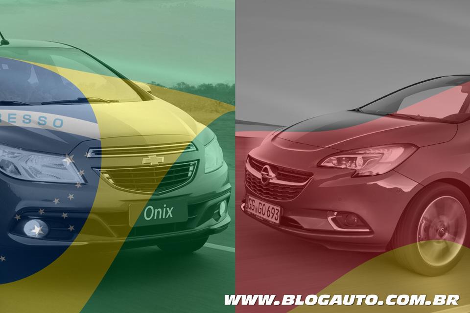 Novo Opel Corsa vs Onix: goleada alemã sobre o Brasil