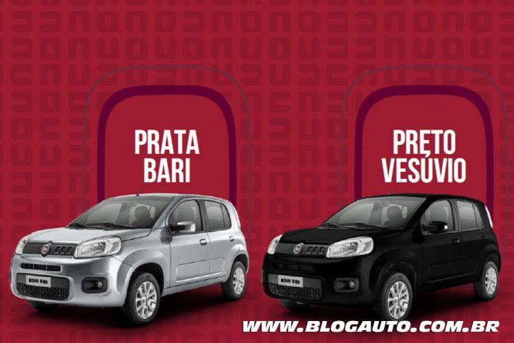 Fiat Uno 2015 Attractive e Evolution Prata Bari e Preto Vesúvio Metálicas