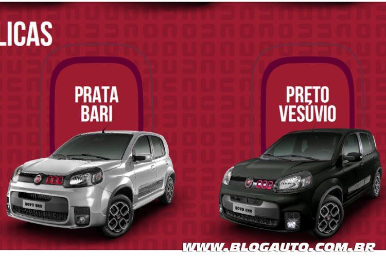 Fiat Uno 2015 Sporting Prata Bari e Preto Vesúvio Metálicas
