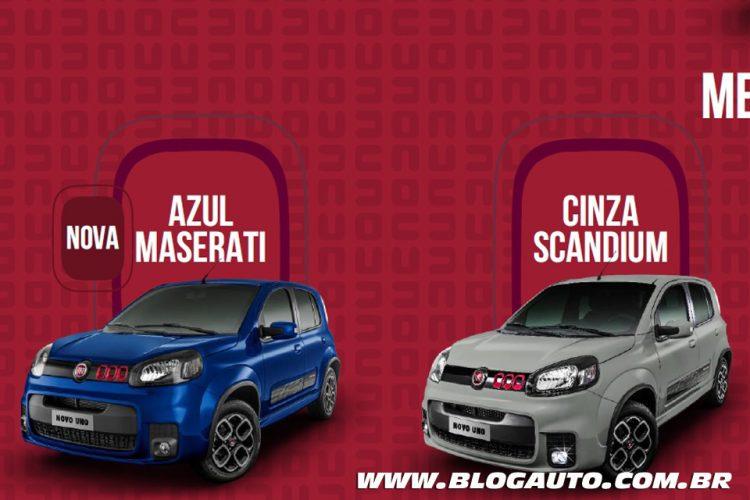 Fiat Uno 2015 Sporting nova Azul Maserati e Cinza Scandium Metálicas