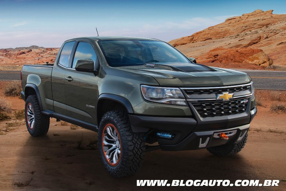 Chevrolet Colorado ZR2 traz proposta off-road