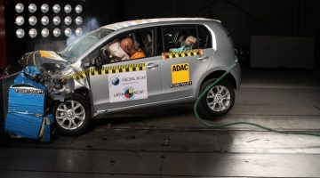 Volkswagen up no teste de auditoria do Latin NCAP