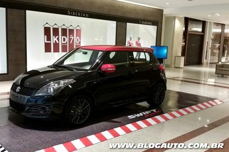 Suzuki Swift Sport em exposição nos shoppings