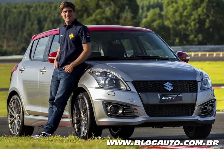 Luiz Razia, embaixador do Swift Sport