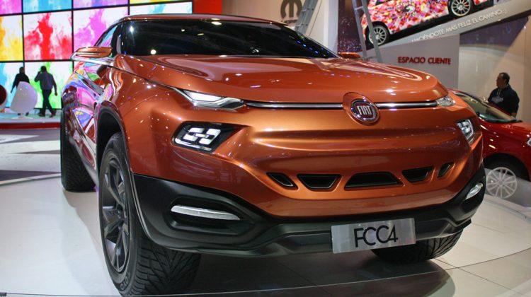 A Fiat levou o conceito FCC4 com nova cor, mas projeto da picape ficou para 2016