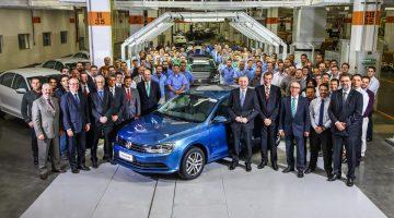 Volkswagen Jetta na fábrica da Volkswagen em São Bernardo do Campo