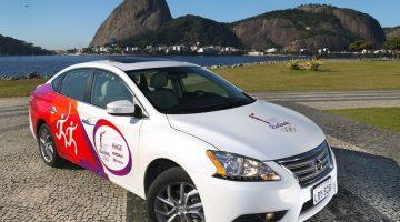 Nissan Sentra para o Revezamento da Tocha Olímpica Rio 2016