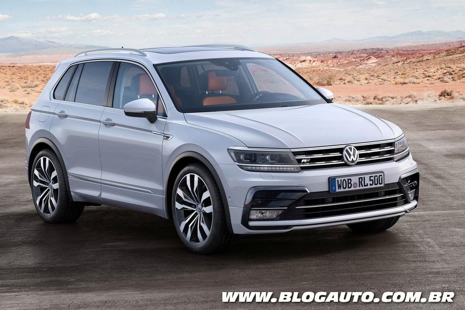 Volkswagen Tiguan 2016 é revelado em Frankfurt